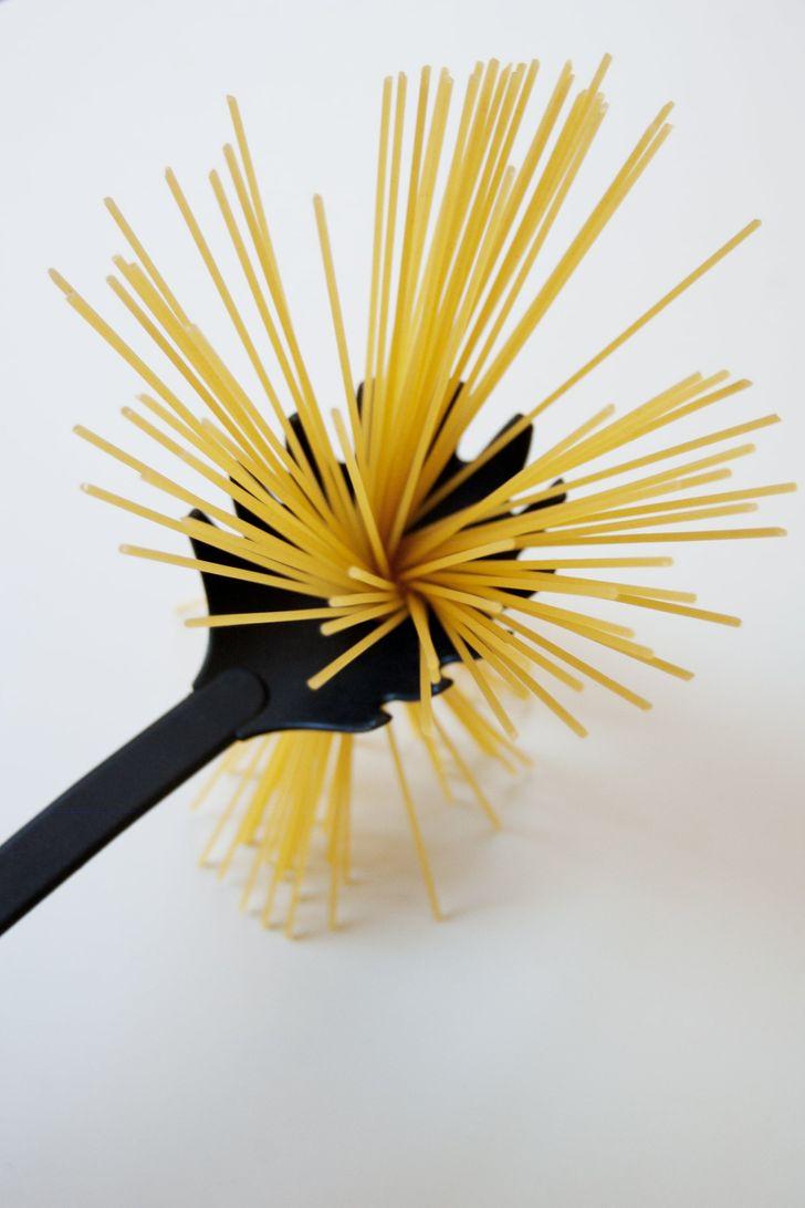 Hole in the spaghetti spoon