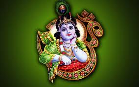Lord Krishna Om HD Wallpaper