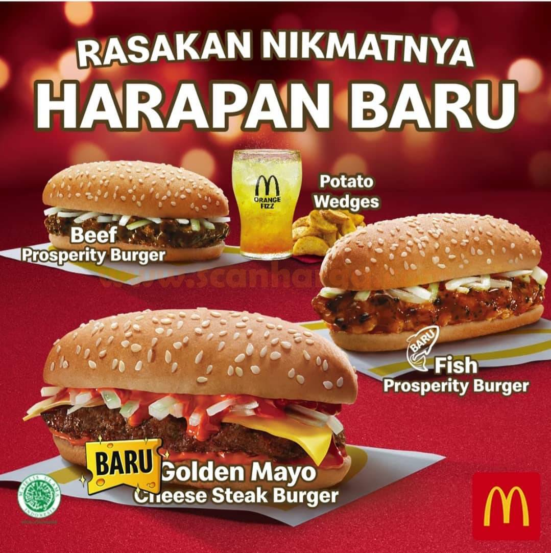 McDonalds Promo Prosperity Burger ! Rasa Baru Golden Mayo Cheese Steak Burger