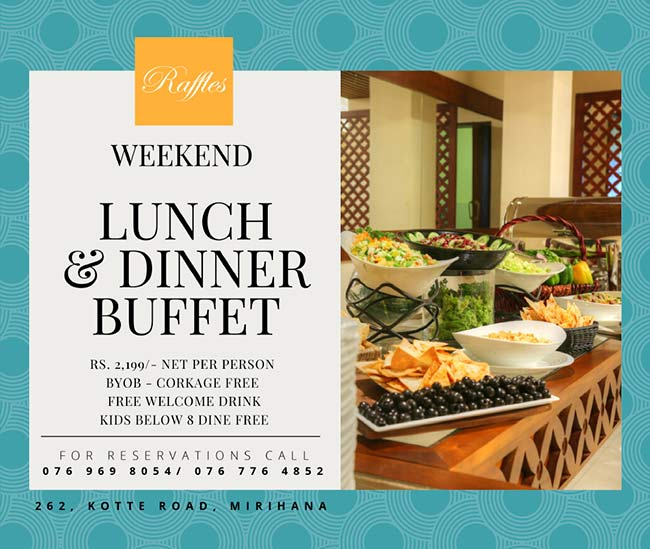 Enjoy Your Weekend with Fabulous International Buffet at Raffles Residence