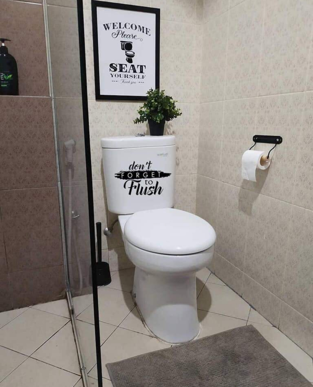 Dekorasi Toilet Kecik Tapi Cantik Mama Maszull