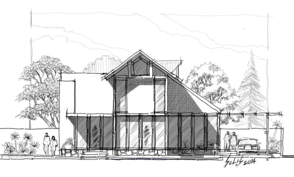 Croquis a todo nivel fachadas tipo croquis a lapiz y fachadas con sketchup - Casas dibujadas a lapiz ...