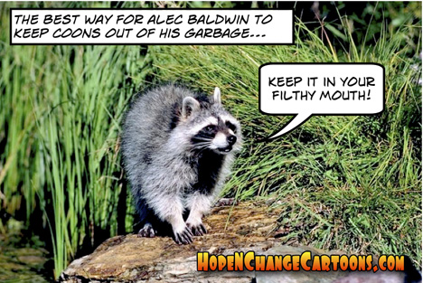 obama, obama jokes, alec baldwin, coon, raccoon, racism, hope n' change, stilton jarlsberg, conservative