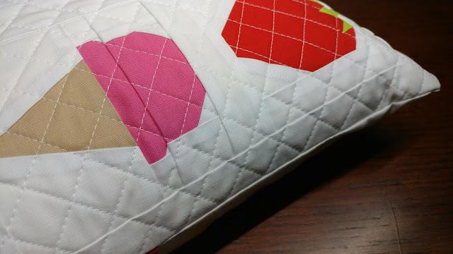 Paper pieced ice cream cone quilt block