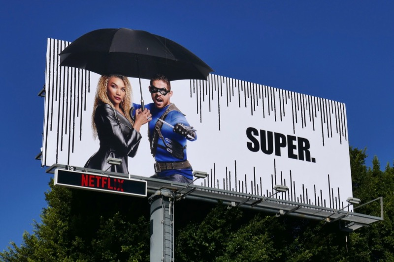 Umbrella Academy super extension cut-out billboard