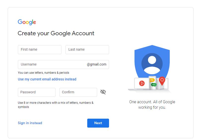 Create-Your-Google-Account