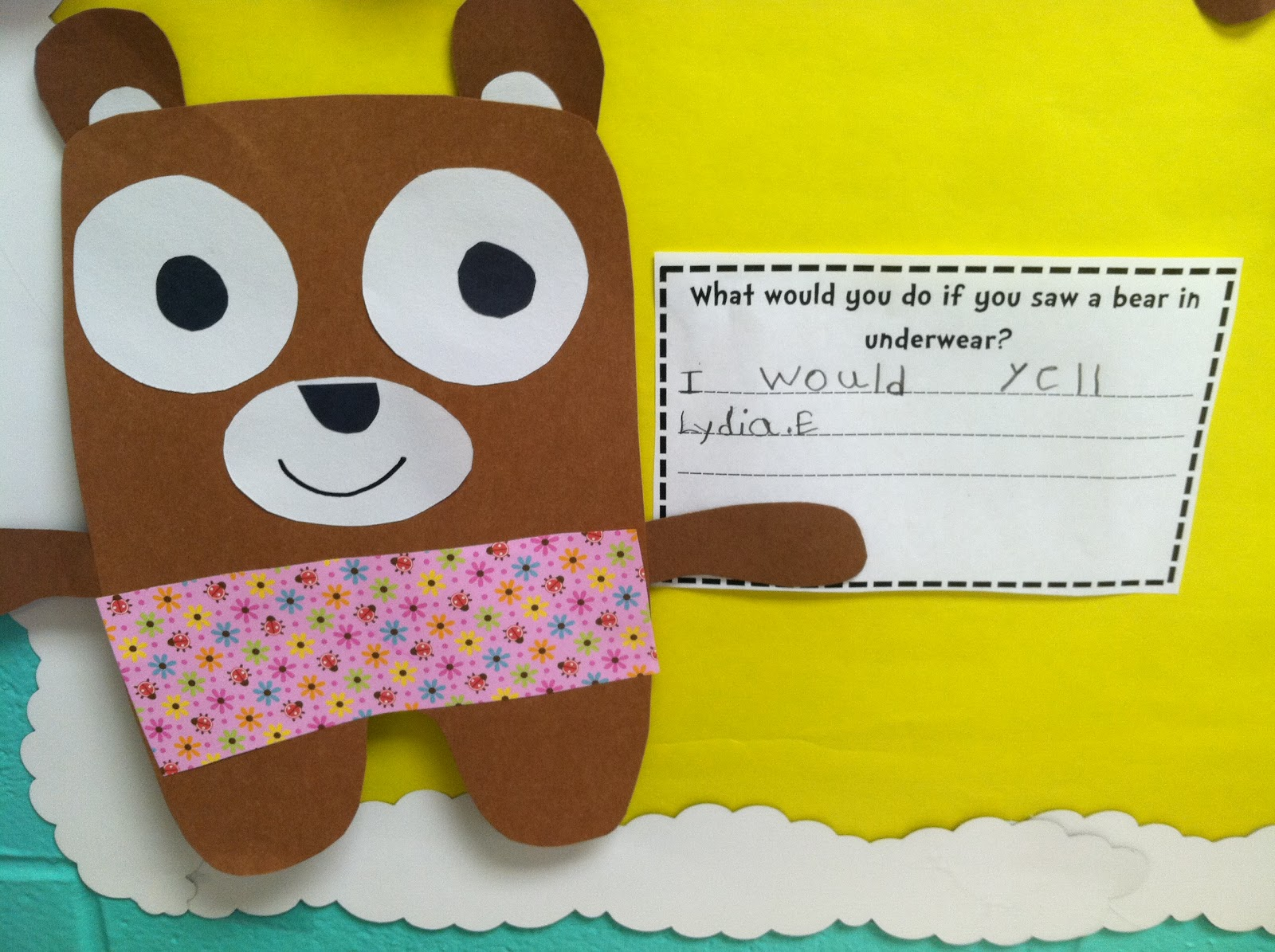 Life In First Grade Bear In Underwear And A New Pack