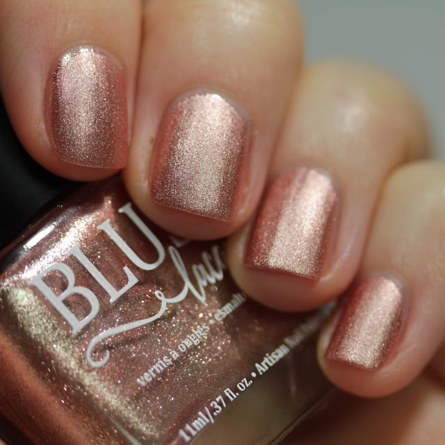 BLUSH Lacquers Flirtation matte swatch by Streets Ahead Style