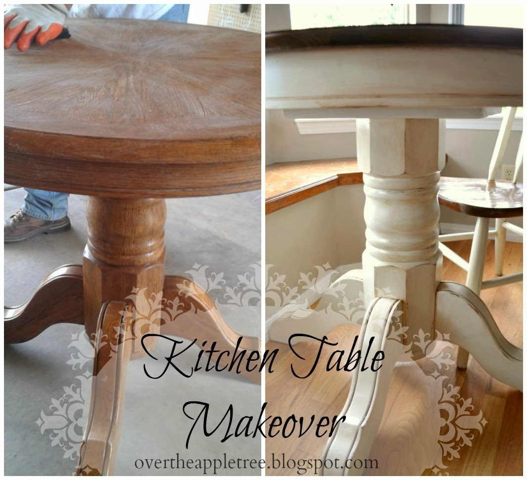 Kitchen Table Makeover by Over The Apple Tree