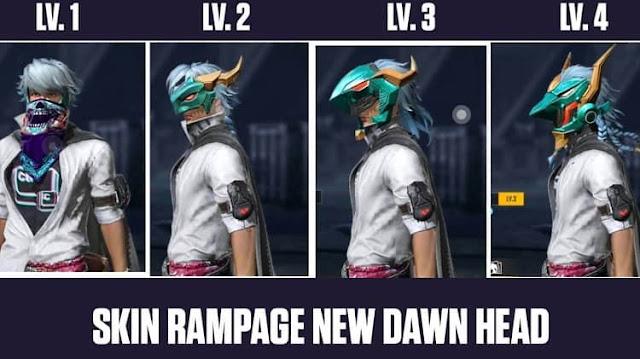 Cara Mendapatkan Skin Rampage New Dawn Head FF