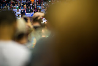 Donald Trump at his  rally at the University of South Florida. Tampa, FL.