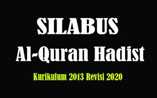 Silabus Al-Quran Hadist MA K13 Revisi 2018, Silabus Al-Quran Hadist MA Kurikulum 2013 Revisi 2020