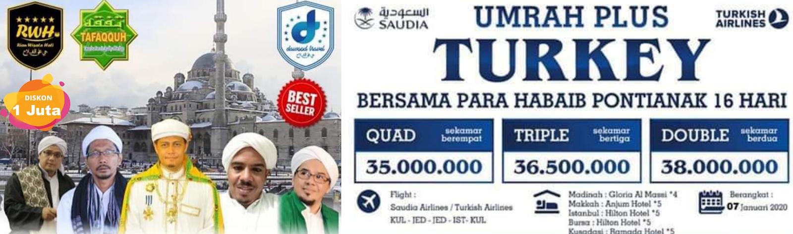 Yuk! Umrah Plus Turkey Bersama Habaib Pontianak 16 Hari
