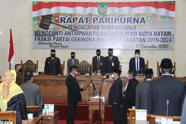 Dilantik Jadi Anggota DPRD Batam, Syamsul Ucapkan Selamat Kepada Capt Luther Jansen