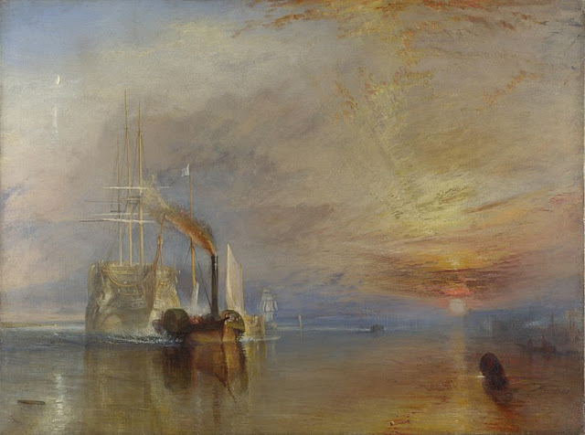 William Turner, The fighting Temeraire tugged to her last Berth to be broken up, 1839_psartworks.in