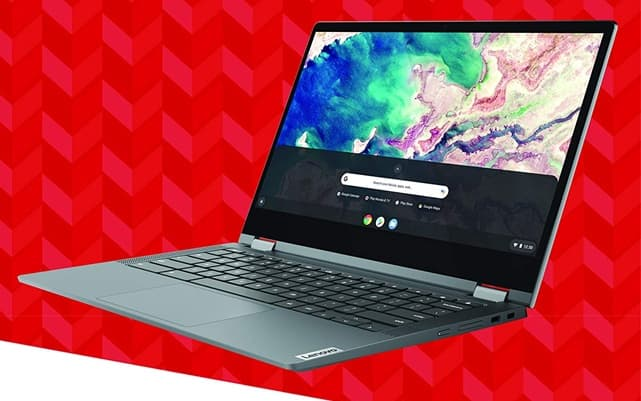 Lenovo Chromebook Flex 5 (82B80006UX): 13.3 '' convertible, with Intel Core i3 processor (10th generation), SSD disk and FHD touch screen