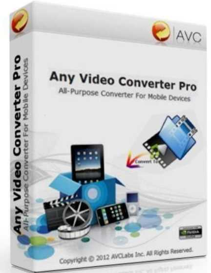 Any Video Converter Professional 7.0.0 poster box cover