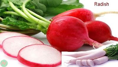 radish; radish vegetable