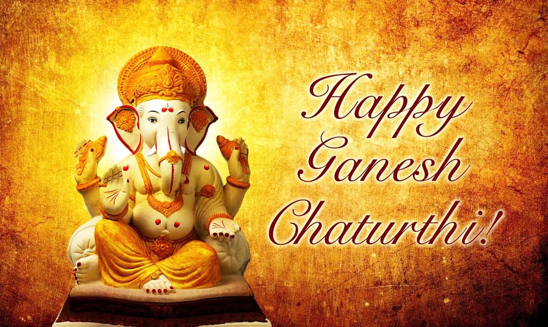 Clay idol happy Ganesh chaturthi wallpaper!