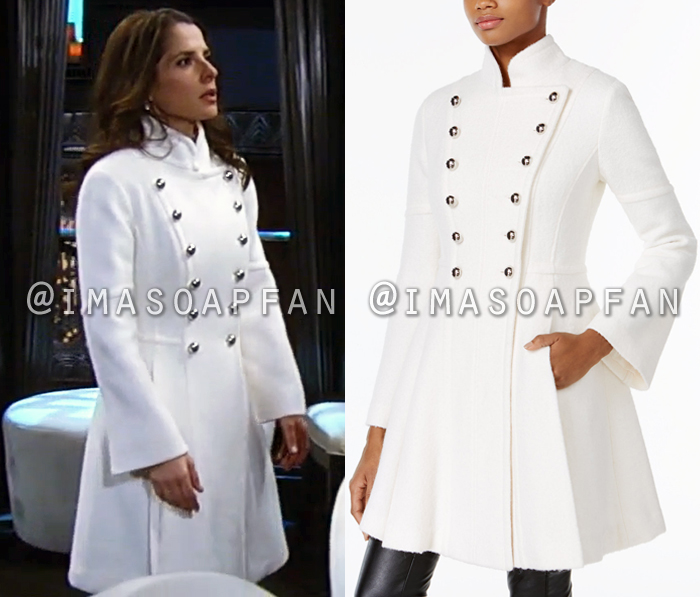 Sam Morgan S White Skirted Double Breasted Military Coat