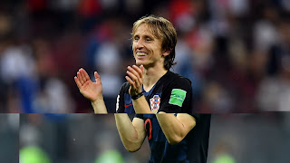 Croatia mildfielder and captain Luka Modric reacts to Ramos' critics