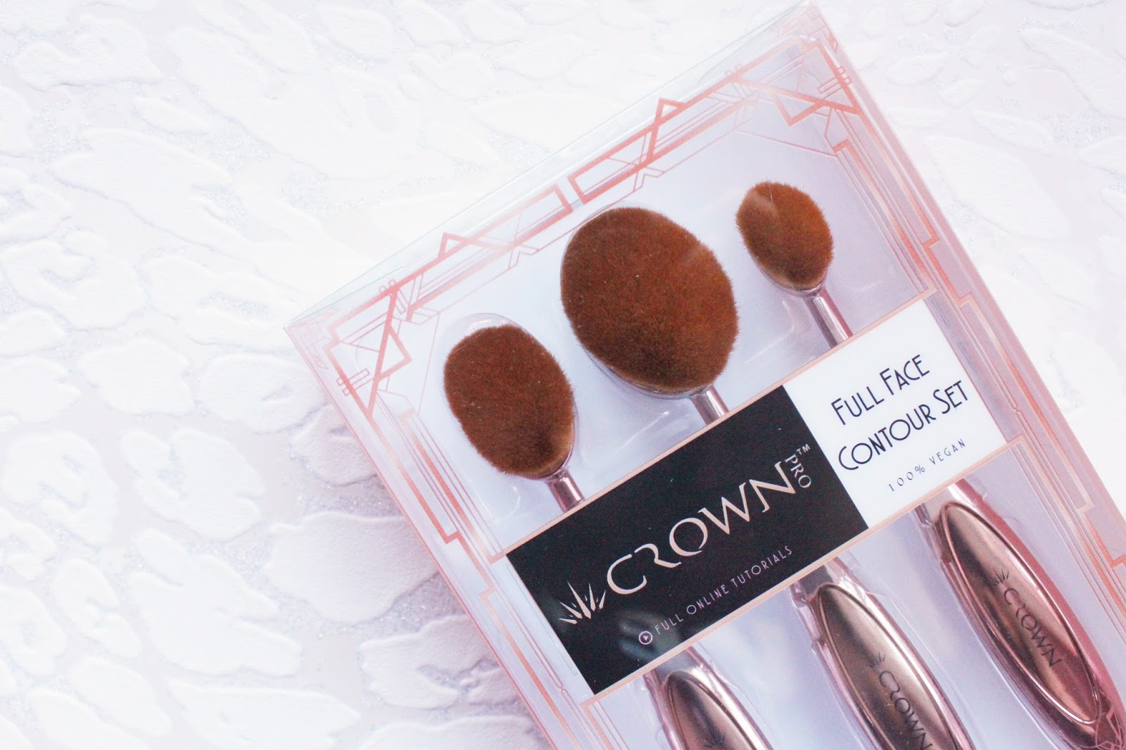 Crown Brush Rose Gold Full Face Contour Set