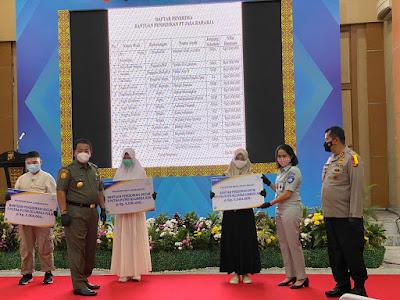 Jasa Raharja Lampung Serahkan Beasiswa Saat Launcing Tiga Samsat