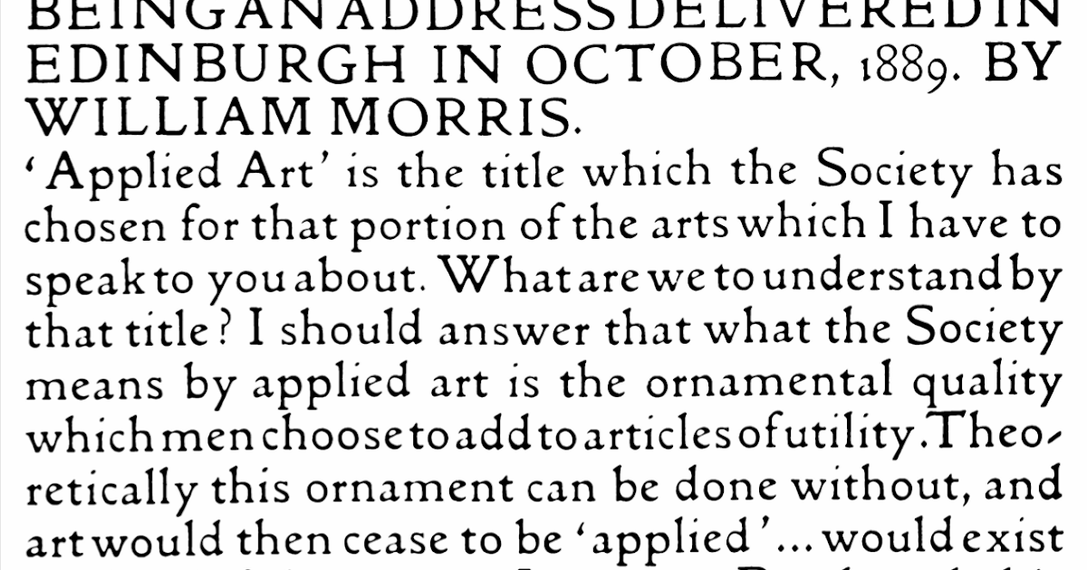 Having a look at History of Graphic Design: The Kelmscott