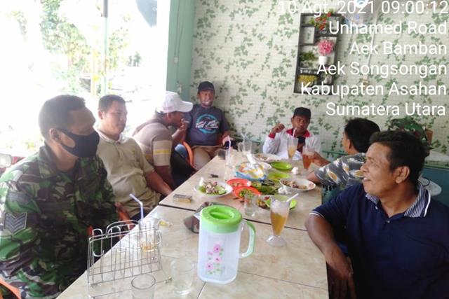Melalui Komunikasi Sosial, Personel Jajaran Kodim 0208/Asahan Himbau Warga Patuhi Protokol Kesehatan