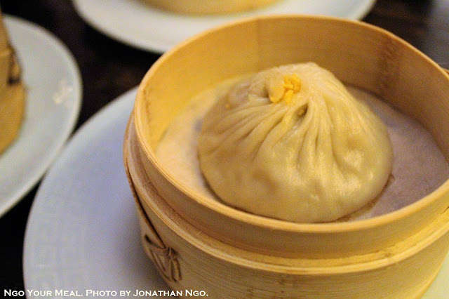 Shanghainese Soup Dumpling, Hairy Crab Roe at Mott 32 in Hong Kong