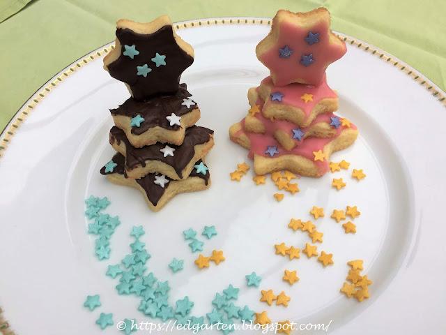 Herzform Kekse gestapelt