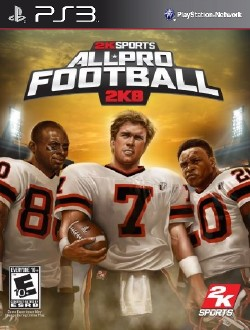 All-pro football 2k8 game   ps3 playstation.
