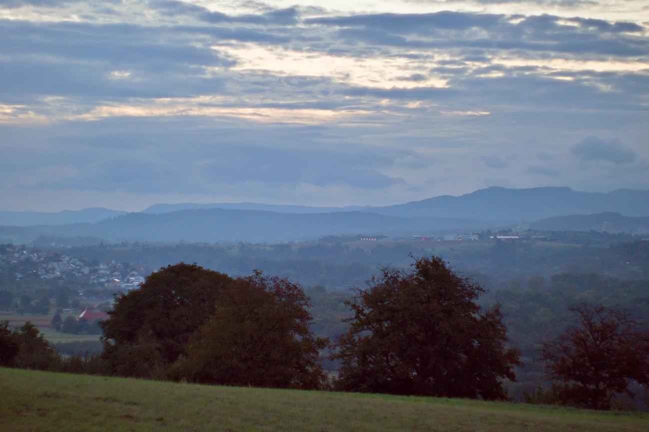 Bild des Tages #143 — Die Sonne kommt immer später auf im Neckartal