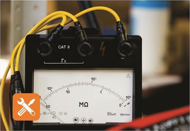 megger analog type baterai