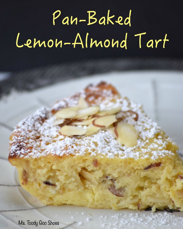-Baked Lemon-Almond Tart: From start to finish, this custardy tart takes only 20 minutes. It just may be the best thing I've ever made! | Ms. Toody Goo Shoes