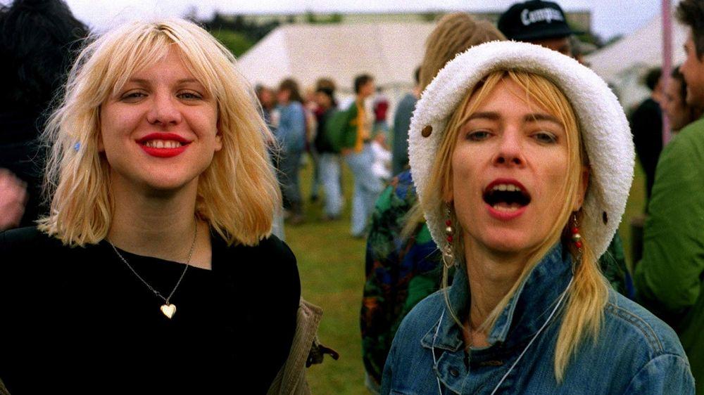 Courtney Love And Kim Gordon At Reading Festival