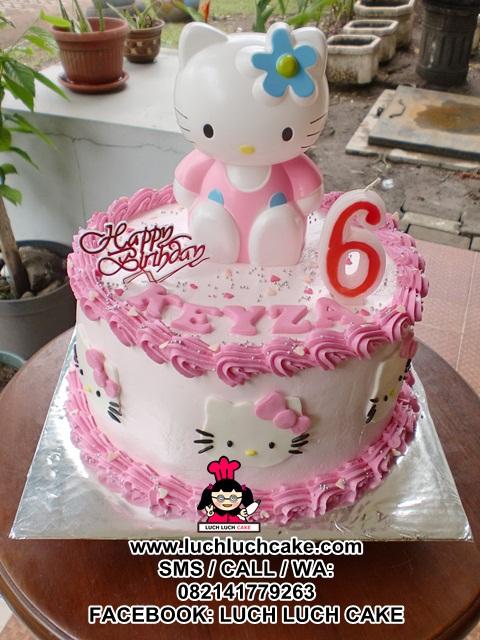 Luch Luch Cake Kue Tart Ulang Tahun Hello Kitty Cantik