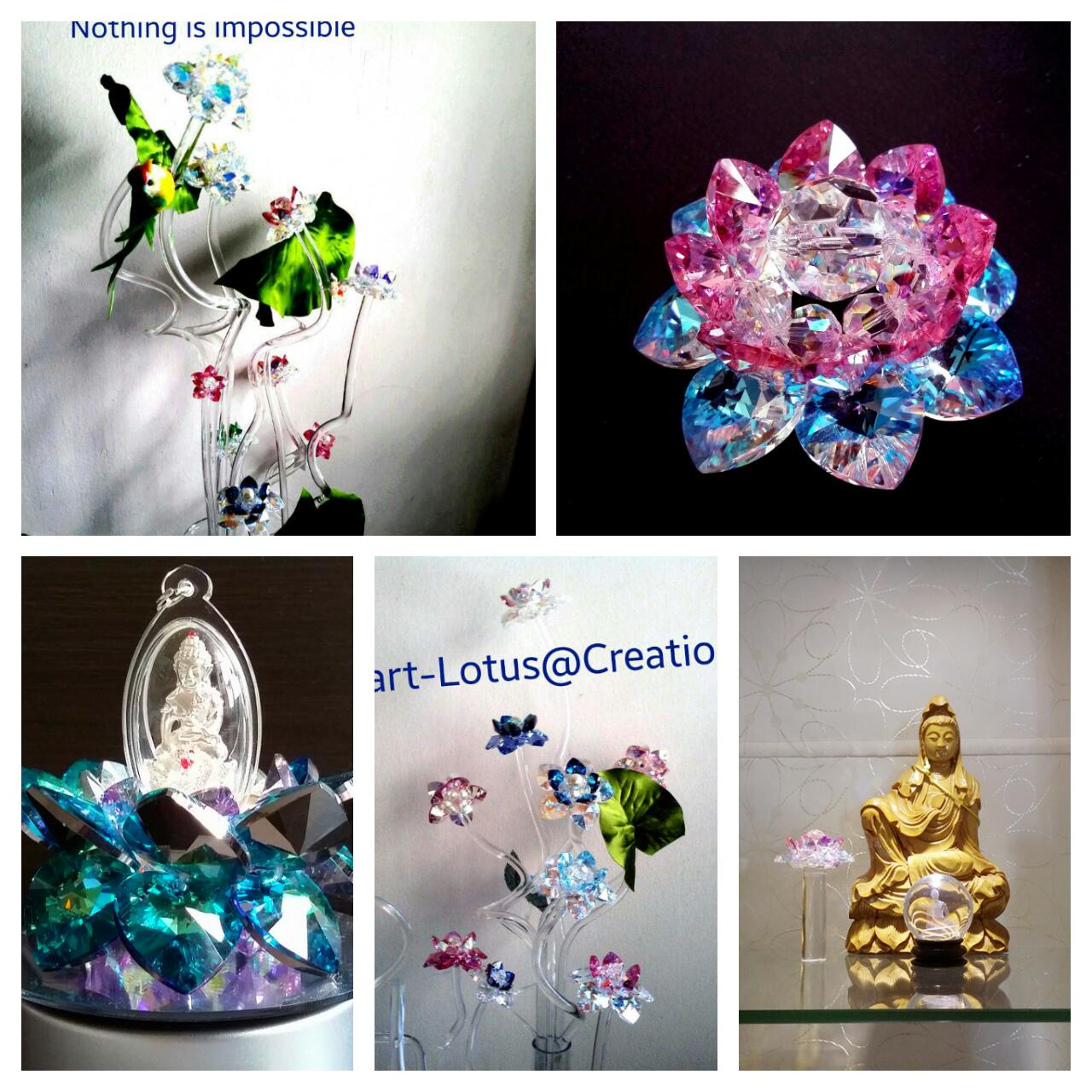 Sacred Crystal Lotus Sacred Crystal Lotus Flowers Sample Display