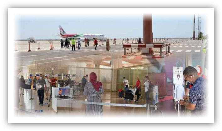 إشادة واسعة بالإجراءات الأمنية و البروتوكول الصحي بمطار المسيرة في أكادير