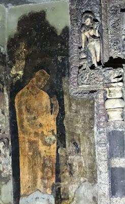 Painting of Buddha with Rahula and Yashodhara