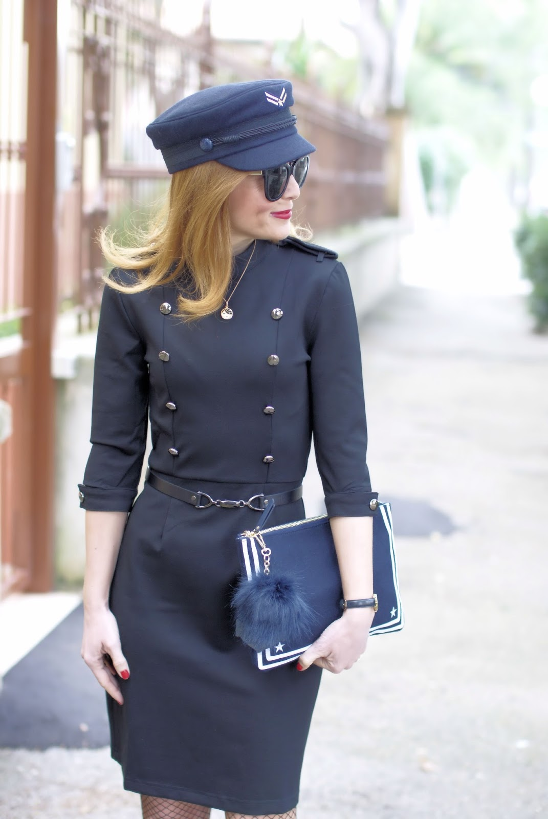 Military sexy style Dezzal dress, TommyXGigi collection on Fashion and Cookies fashion blog, fashion blogger style