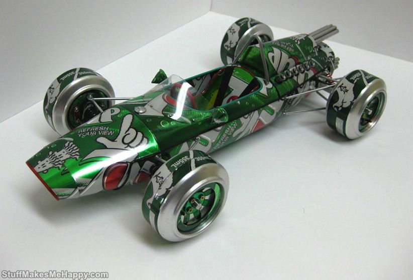 Inspirational Handmade Vintage Model Cars Made Out From Aluminum Cans by Sandy Sanderson