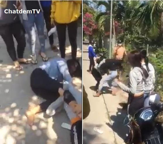Clip nữ sinh đánh nhau ở đâu đó tại Kiên Giang