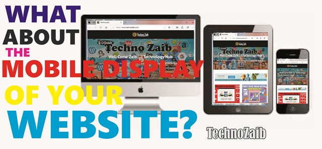 What about the mobile display of your website?