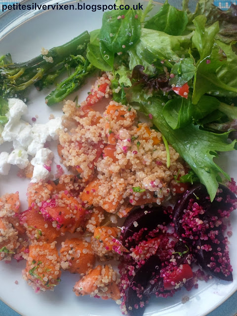Quinoa Salde with Butternut Squash and Beetroot | Petite Silver Vixen