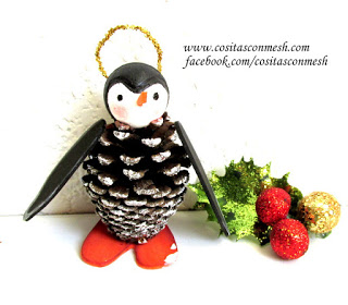 pingüinos-navideños-piñas