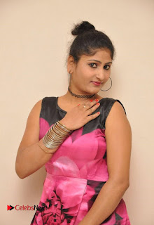 Actress Asmitha Khan Pictures in Floral Frock at Dirty Game Audio Launch 0006