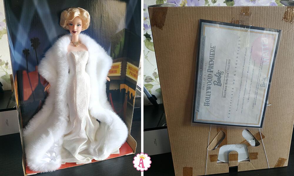 Сертификат подлинности куклы Барби Мэрилин Монро