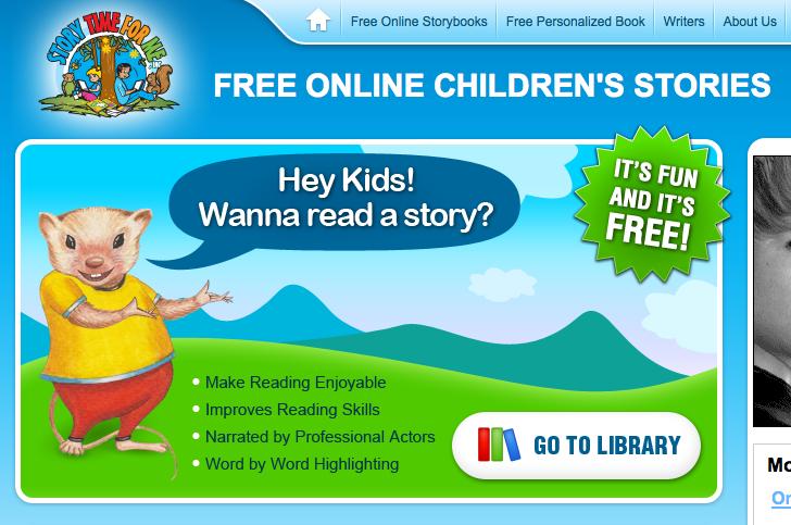 TeacherLINK Blog!: StorytimeForMe.com - Free Online Kids ...