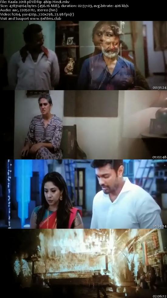 Kaala 2018 pDVDRip Hindi 400mb